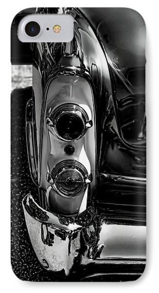 Dodge Royal Lancer Tail Light Art Charcoal IPhone Case by Lesa Fine