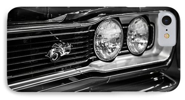 Dodge Super Bee Black And White IPhone Case by Paul Velgos