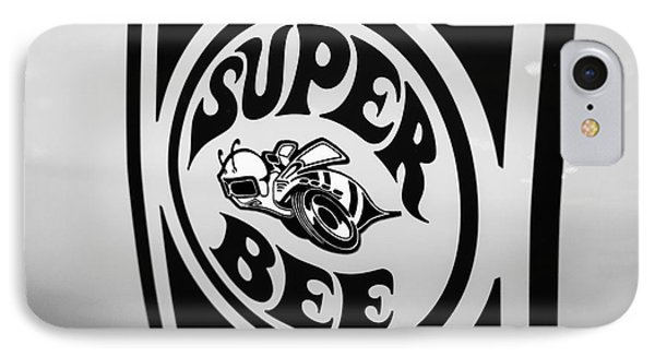 Dodge Super Bee Decal Black And White Picture IPhone Case by Paul Velgos