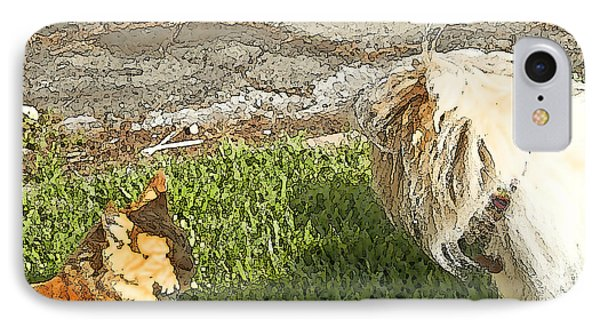 Dog And Cat Discuss Phone Case by Artist and Photographer Laura Wrede