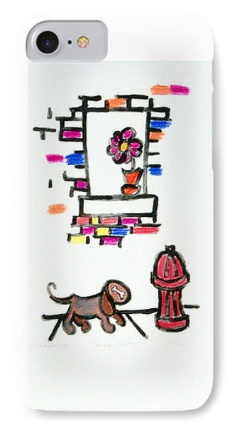 Dog And The Hydrant IPhone Case by Shelley Overton