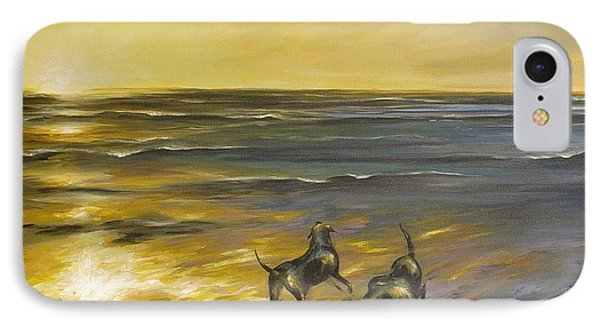 IPhone Case featuring the painting Dog Beach by Dina Dargo