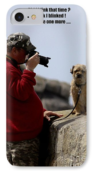Dog Being Photographed Phone Case by Terri Waters