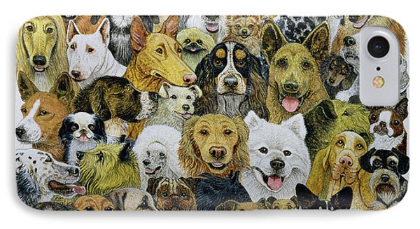 Dog Friends  IPhone Case by Pat Scott