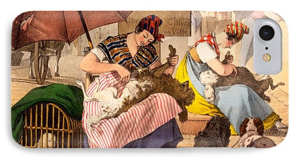Dog Groomers, 1820 Phone Case by French School