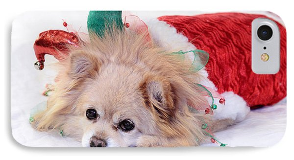 Dog In Christmas Costume IPhone Case by Charline Xia