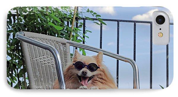 Dog In Summer IPhone Case