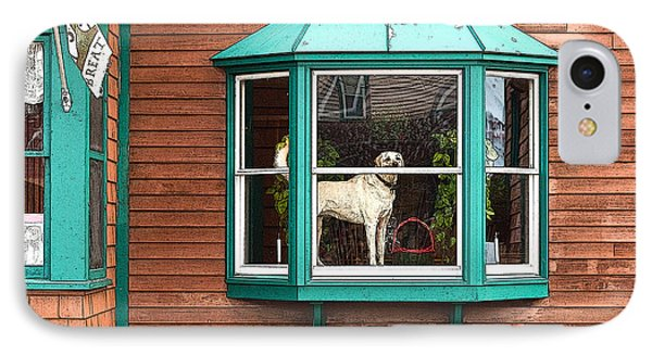 Dog In Window IPhone Case