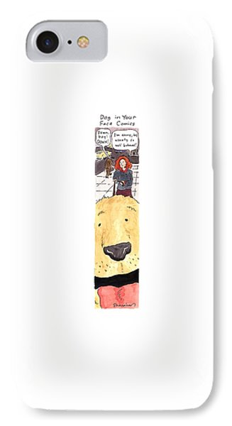 Dog In Your Face Comics IPhone Case