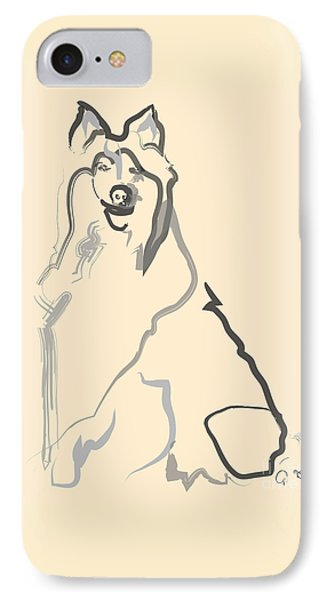 Dog - Lassie IPhone Case by Go Van Kampen