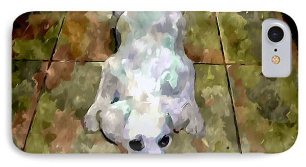 Dog Lying On Floor  Phone Case by Lanjee Chee
