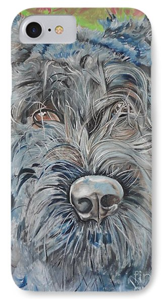 IPhone Case featuring the painting Dog Of Flanders The Bouvier by PainterArtist FIN