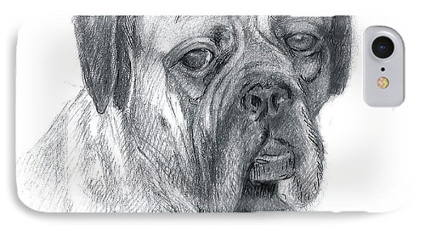 Boxer Dog IPhone Case by Rose Wang