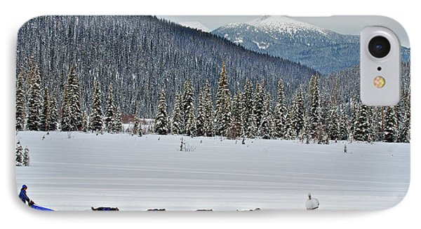 Dog Sled Races Are A Popular Winter IPhone Case by Richard Wright