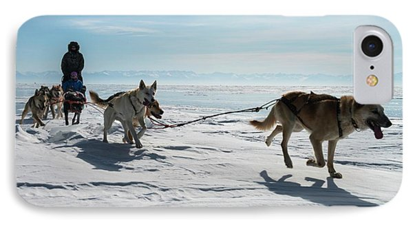 Dog Sledding IPhone Case by Louise Murray