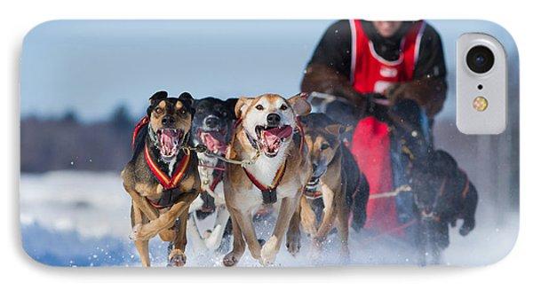Dog Sledding Race IPhone Case