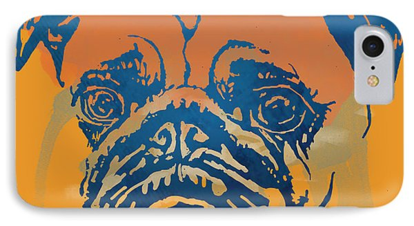 Dog Stylised Pop Modern Etching Art Portrait IPhone Case
