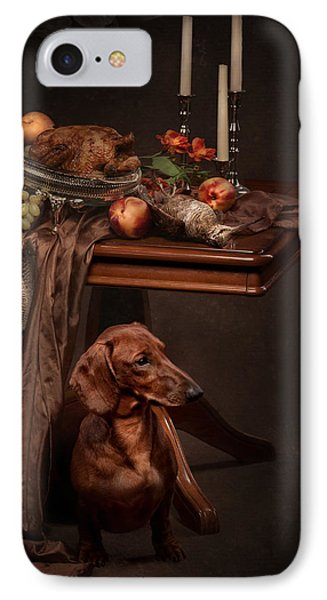 Dog Under The Table Phone Case by Tanya Kozlovsky