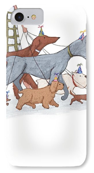Dog Walker IPhone 7 Case by Christy Beckwith
