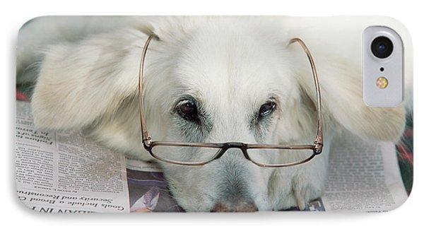 Dog And The News IPhone Case by Yva Momatiuk John Eastcott