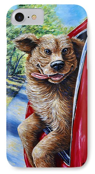 Dog...gone Happy IPhone Case by Gail Butler