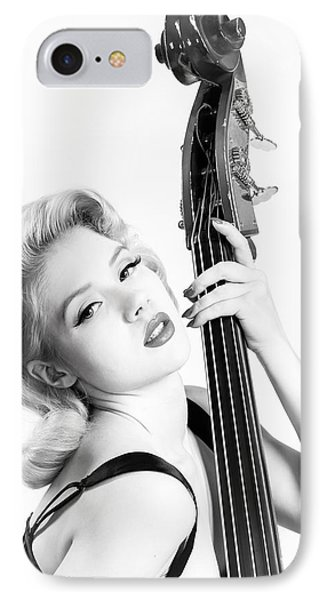 Doghouse Portrait Of Mosh - Double Bass Phone Case by Gary Heller