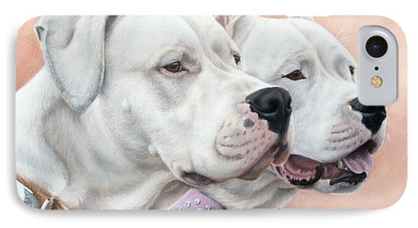 Dogo Argentino Phone Case by Tobiasz Stefaniak