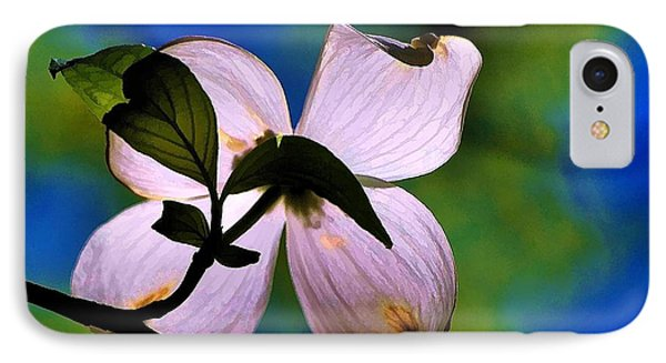 IPhone Case featuring the photograph Dogwood Blossom by Ludwig Keck