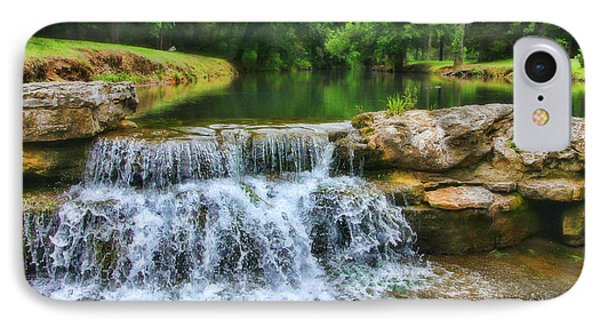 Dogwood Canyon Falls IPhone Case by Elizabeth Winter