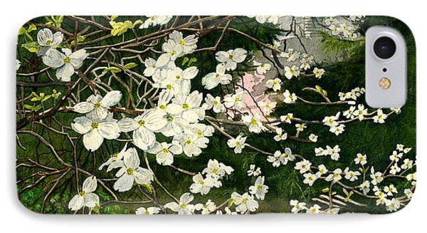 IPhone Case featuring the painting Dogwoods Virginia by Melly Terpening