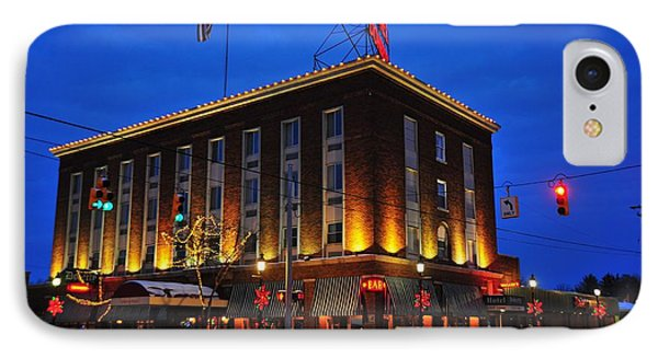 Doherty Hotel At Christmas IPhone Case by Terri Gostola