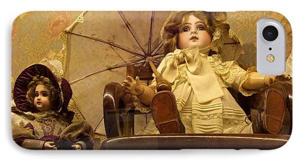 Doll With Parasol IPhone Case by Venetia Featherstone-Witty