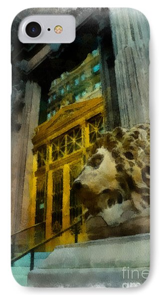 Dollar Bank Lion Pittsburgh Phone Case by Amy Cicconi