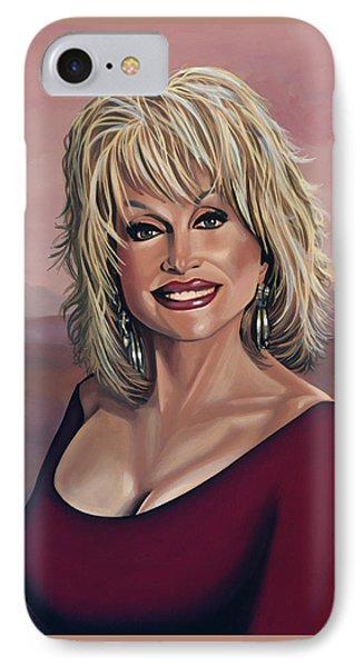 Dolly Parton 2 IPhone Case by Paul Meijering