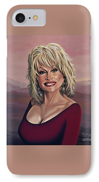 Dolly Parton 2 Phone Case by Paul Meijering