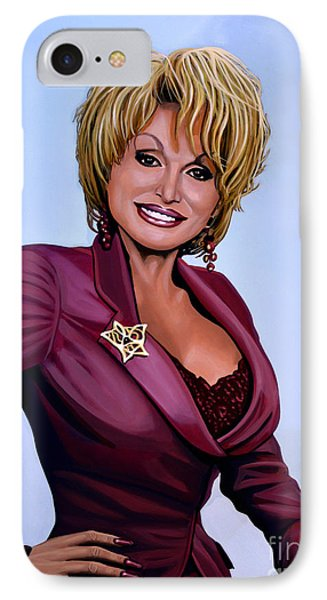 Dolly Parton IPhone Case by Paul Meijering
