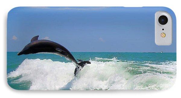 IPhone Case featuring the digital art Dolphin Flip 2 by Kara  Stewart