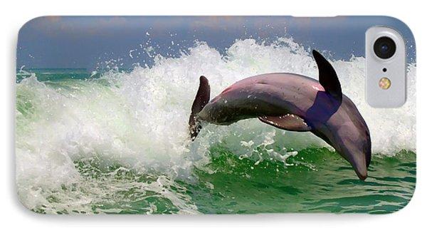 IPhone Case featuring the digital art Dolphin Flip by Kara  Stewart