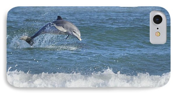 Dolphin In Surf Phone Case by Bradford Martin