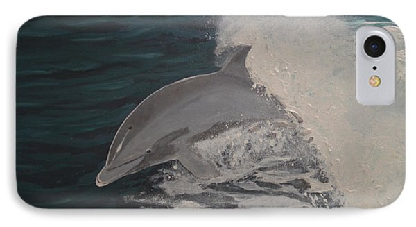 Dolphin In The Wake IPhone Case by Zilpa Van der Gragt