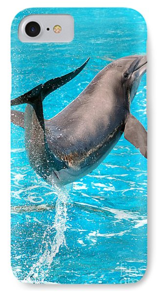Dolphin Plays Phone Case by Michal Bednarek