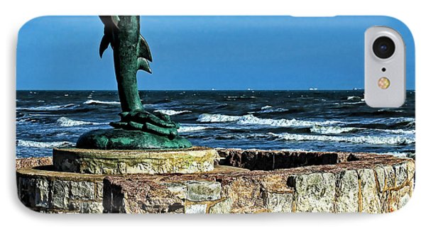 Dolphin Statue IPhone Case by Judy Vincent