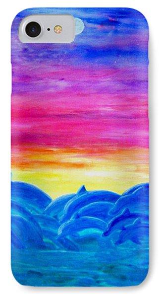 Dolphin Sunset Phone Case by Sheri Salin