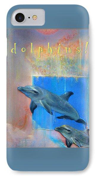IPhone Case featuring the pastel Dolphins by Brooks Garten Hauschild