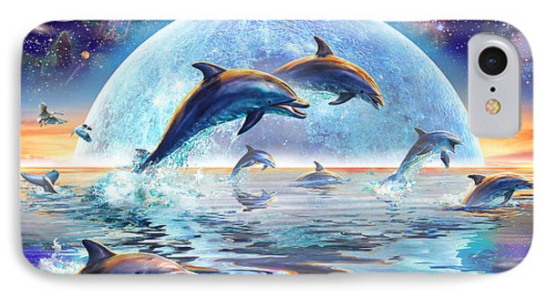 Dolphins By Moonlight IPhone Case