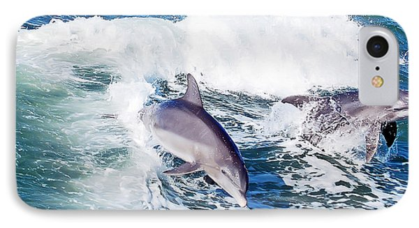 Dolphins Jumping Phone Case by Aimee L Maher Photography and Art Visit ALMGallerydotcom