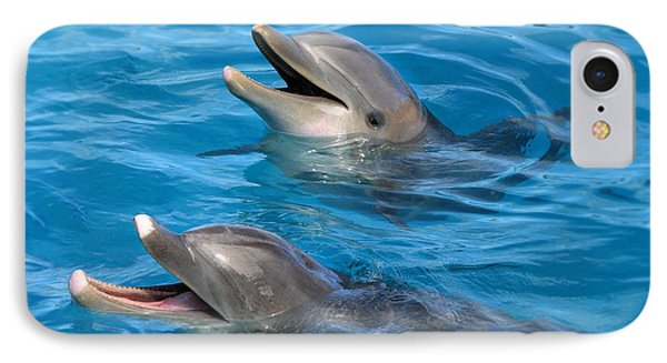 IPhone Case featuring the photograph Dolphins by Kristine Merc