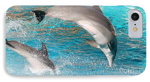 Dolphins Show Phone Case by Michal Bednarek