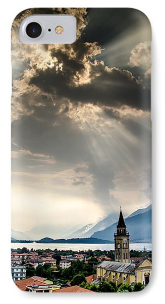 Domaso Sunrays IPhone Case by Jeffrey Teeselink