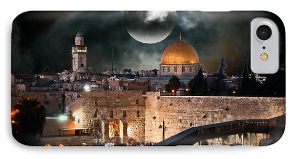 Temple Mount In Israel - Series IIi IPhone Case by Doc Braham